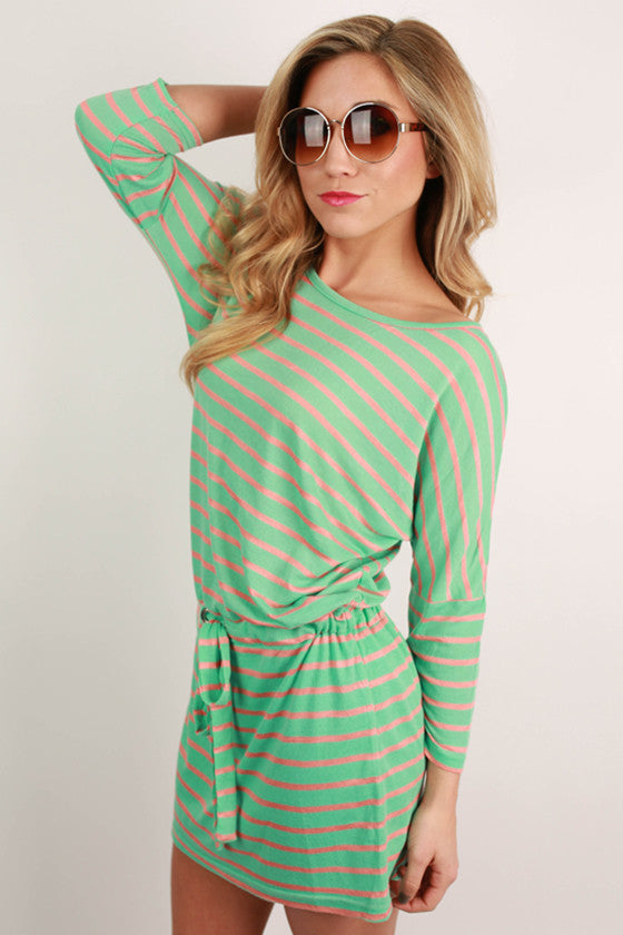 The Perfect Kind of Fabulous Stripe Dress in Mint