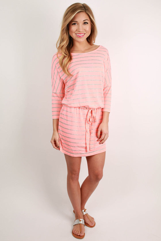 The Perfect Kind of Fabulous Stripe Dress in Pink