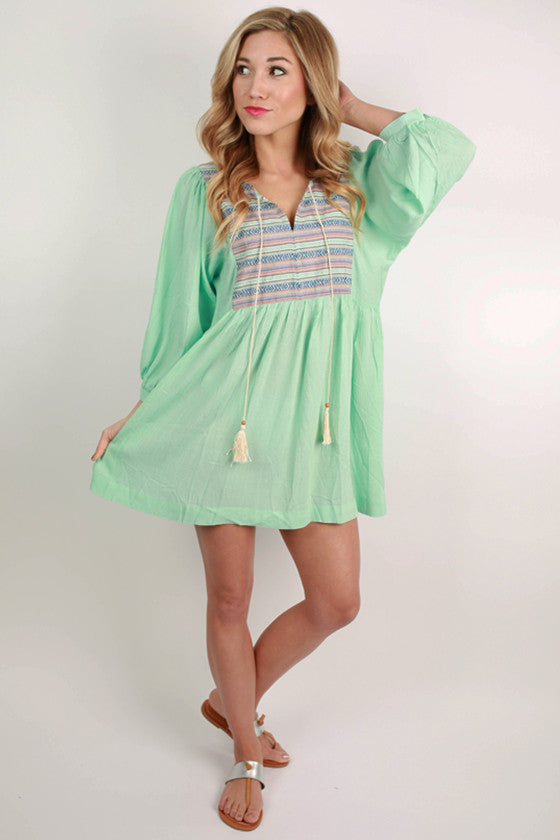 The Girl To Be Dress in Mint