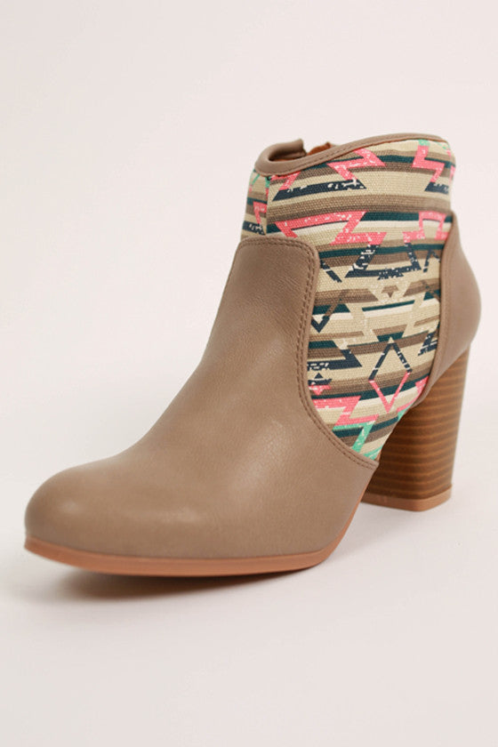 The Best for Fest Bootie in Taupe
