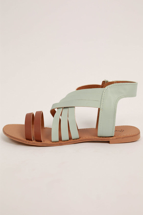 The Soho Sandal in Mint