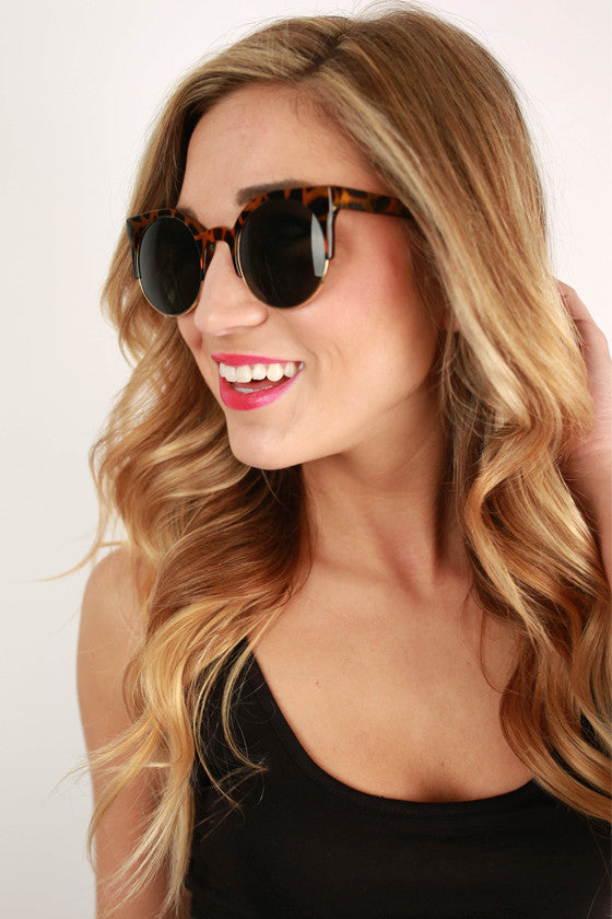 Cat Eye Sunglasses in Caramel