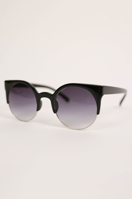 Cat Eye Sunglasses in Silver