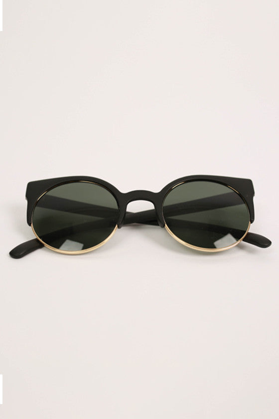 Cat Eye Sunglasses in Gold