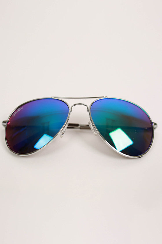 Cool Capri Aviatior Sunglasses in Jade