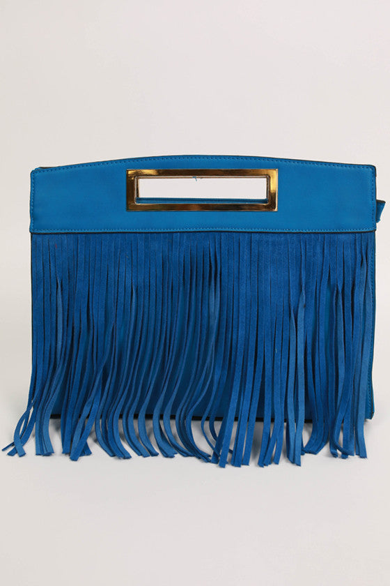 Dreaming of Fringe Bag in Blue