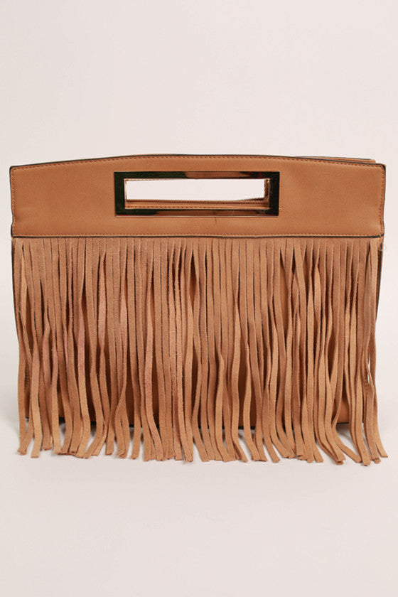 Dreaming of Fringe Bag in Camel