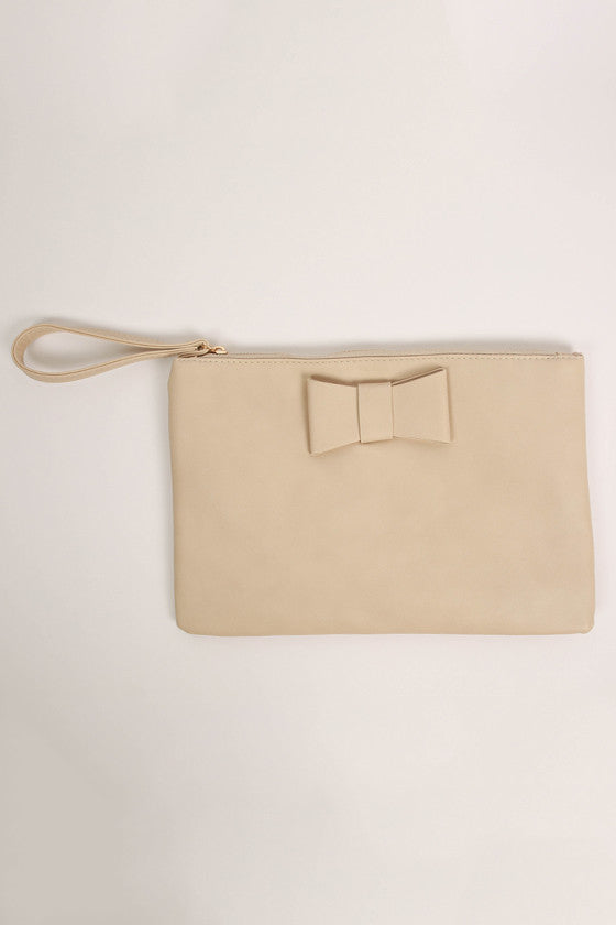 Let's Dance Clutch in Beige