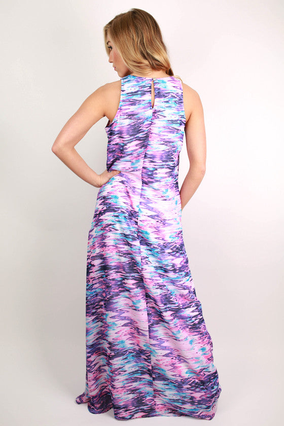 Beautiful Travels Maxi Dress in Violet