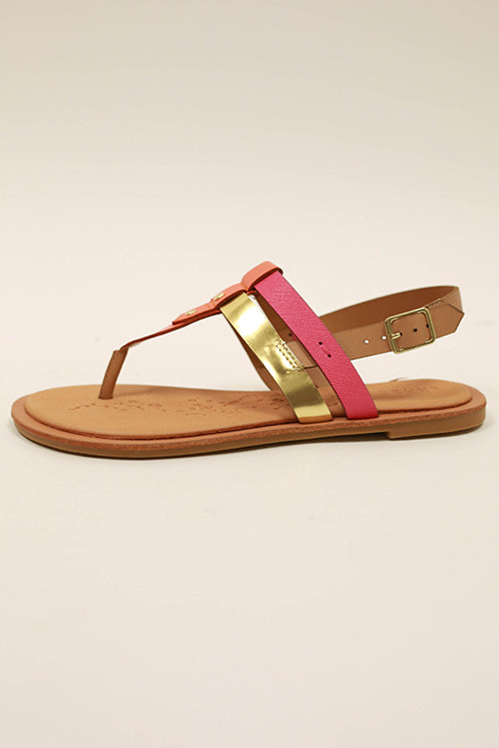Calling Your Name Sandal in Fuchsia