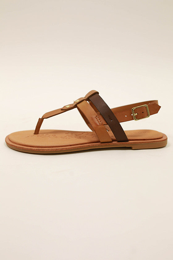 Calling Your Name Sandal in Chestnut