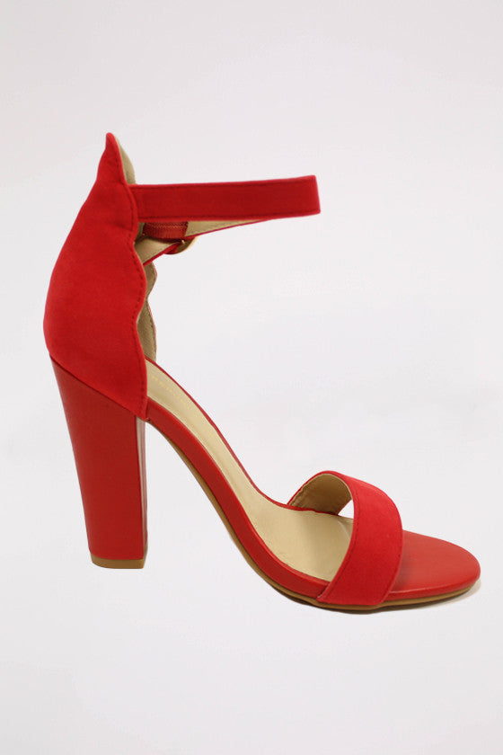 Girl's Night Heel in Red