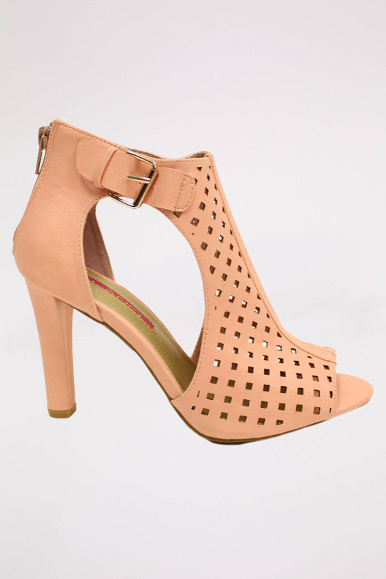 For Beauty Sake Heel in Blush