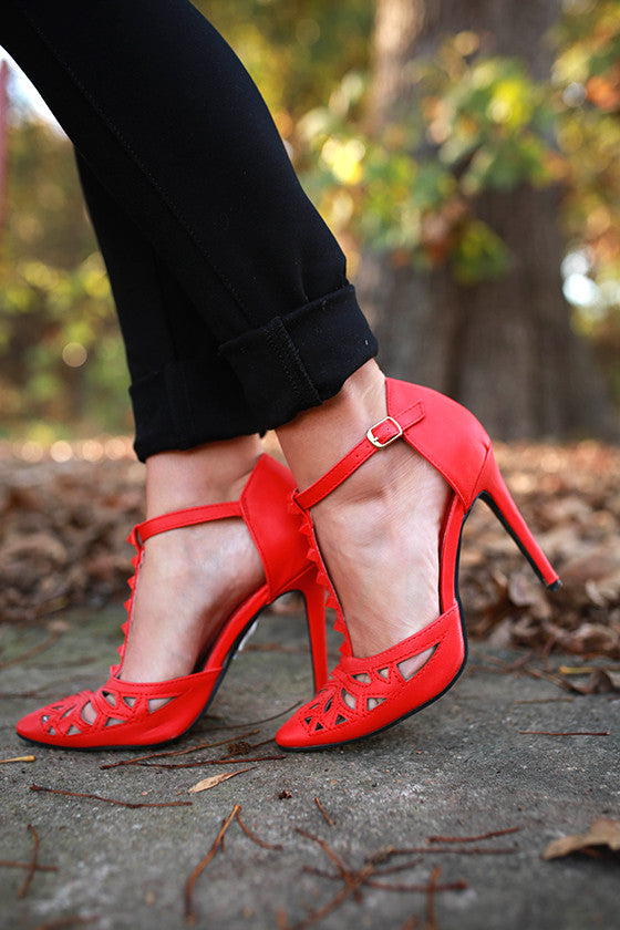 Hot as Can Be Heel in Red