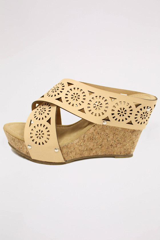 Feeling Beautiful Wedge in Beige