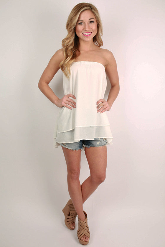 For The Twirl Of It Layered Top in White