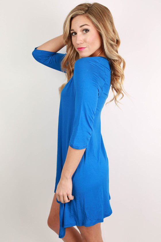 I'm Flawless Half Sleeve Tunic in Royal Blue