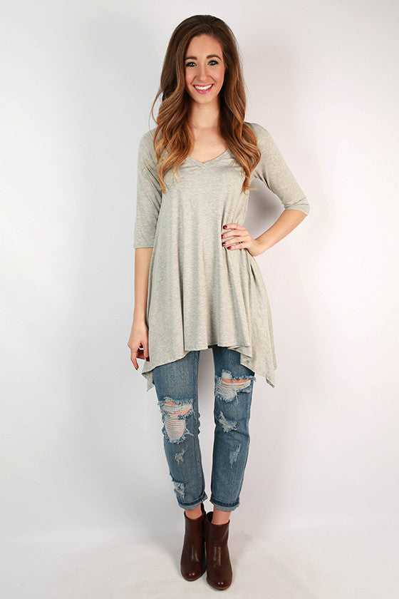 I'm Flawless Half Sleeve Tunic in Grey