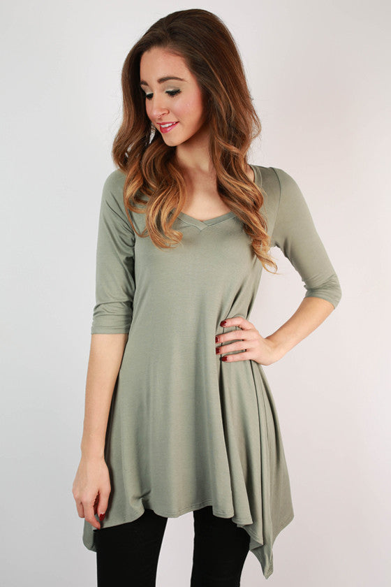 I'm Flawless Half Sleeve Tunic in Pear