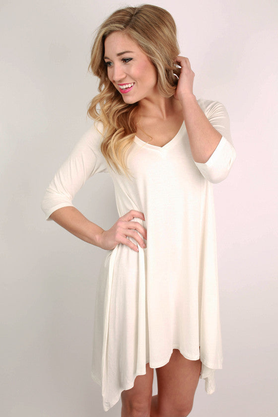 I'm Flawless Half Sleeve Tunic in White