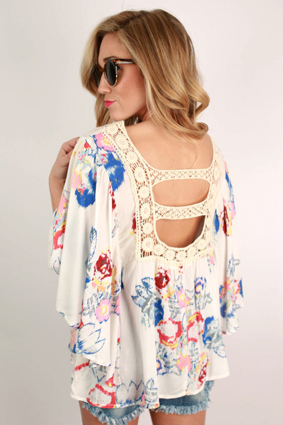 Original Beauty Floral Top in White