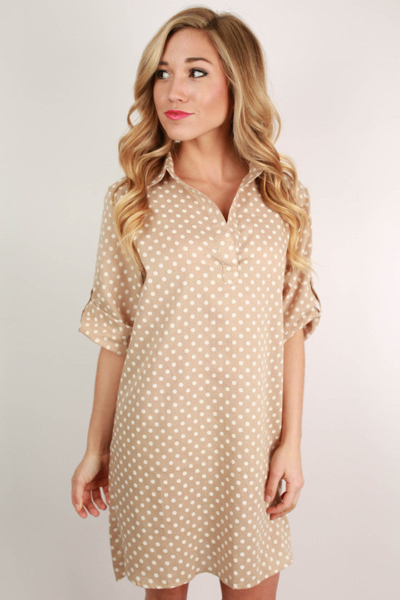 Chic On Repeat Tunic in Beige