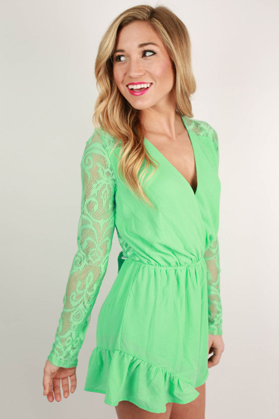 Beautiful Shindig Romper in Mint