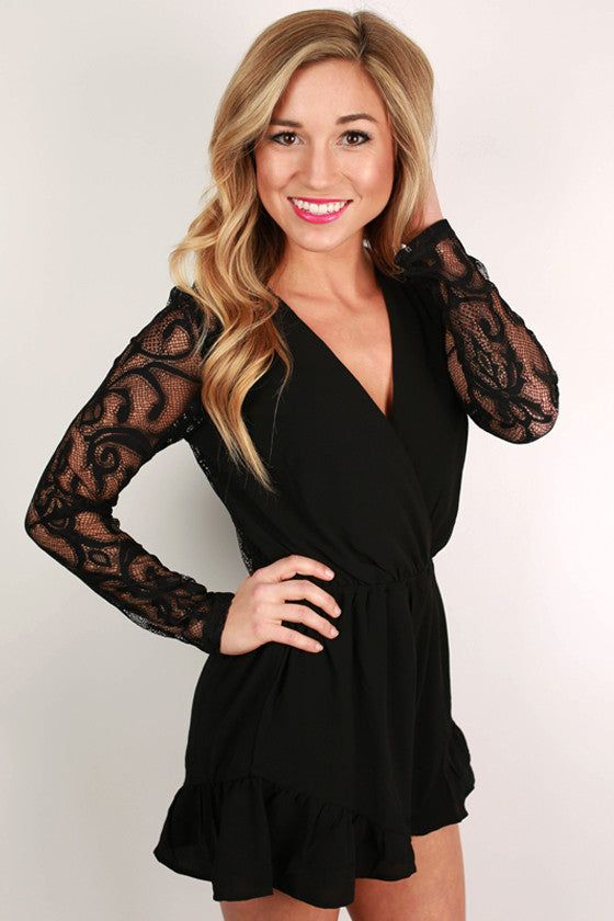 Beautiful Shindig Romper in Black