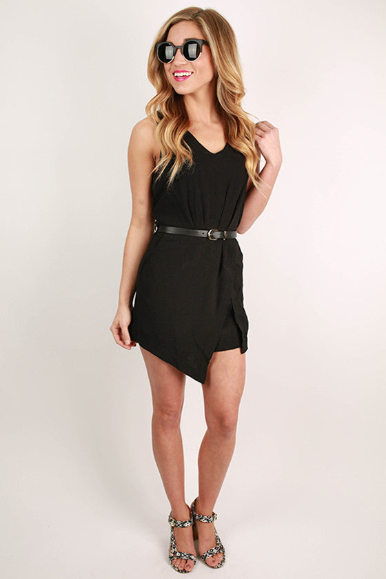 Playa Del Pretty Romper in Black