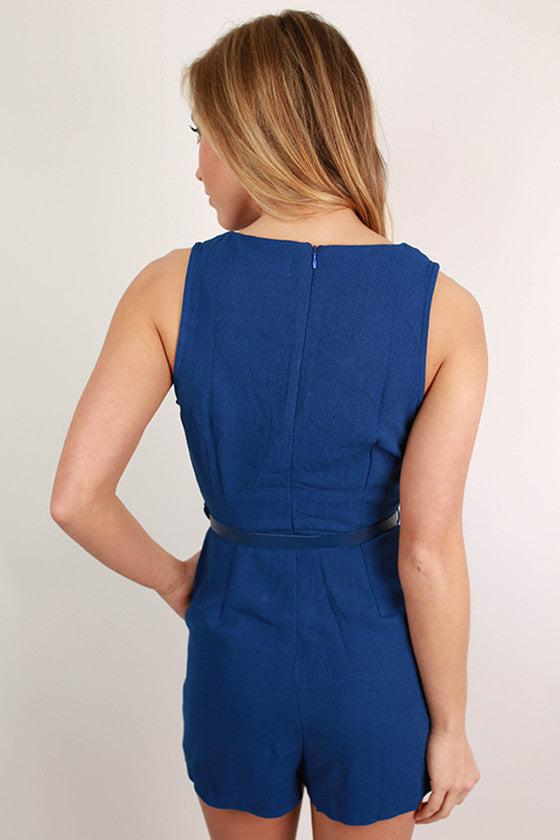Playa Del Pretty Romper in Royal Blue