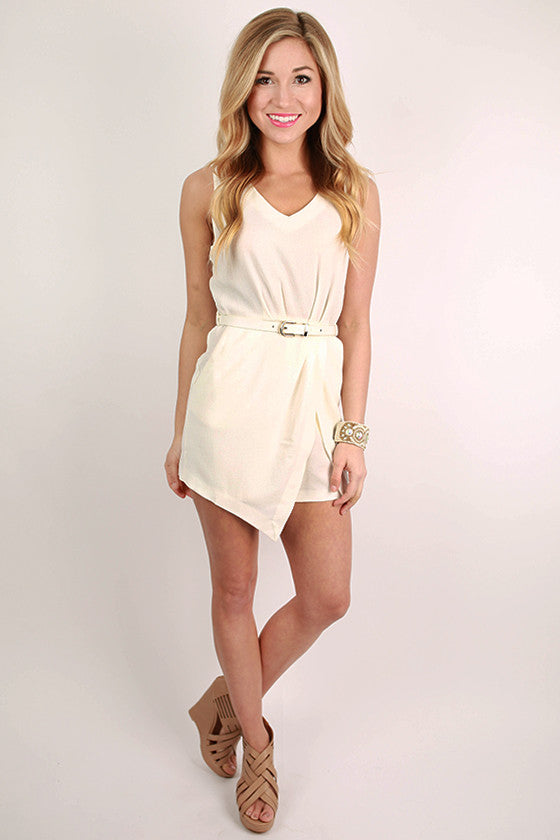 Playa Del Pretty Romper in White