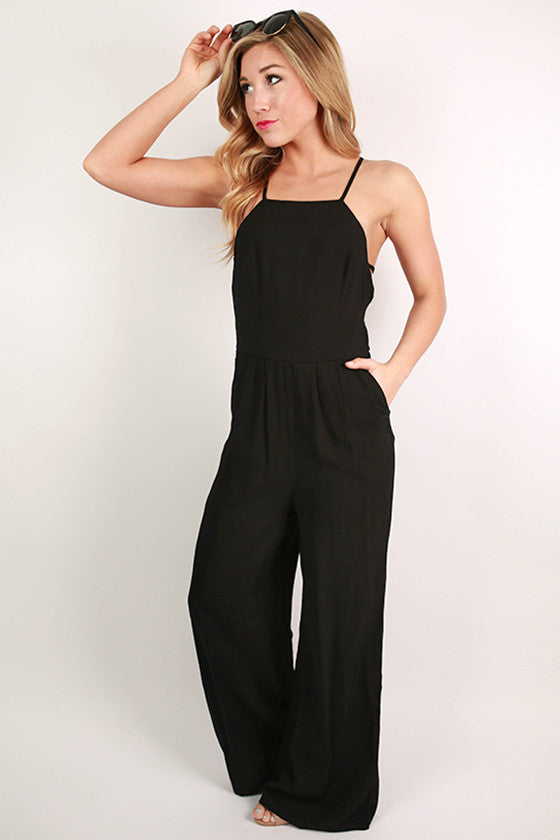 Her Royal Hotness Jumpsuit in Black
