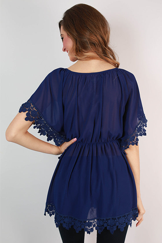 The Lucky Girl Tunic in Royal Blue