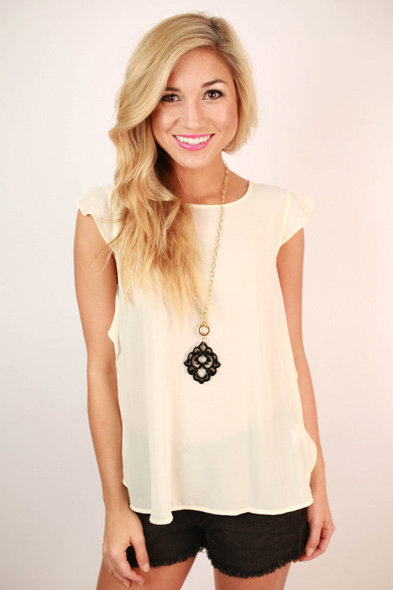 Call Me Beautiful Top in Cream