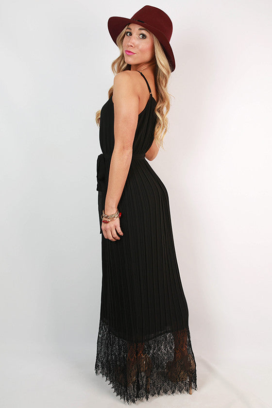 Sleepless In Soho Maxi Dress in Black