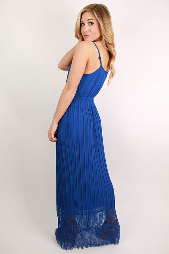 Sleepless In Soho Maxi Dress in Royal Blue