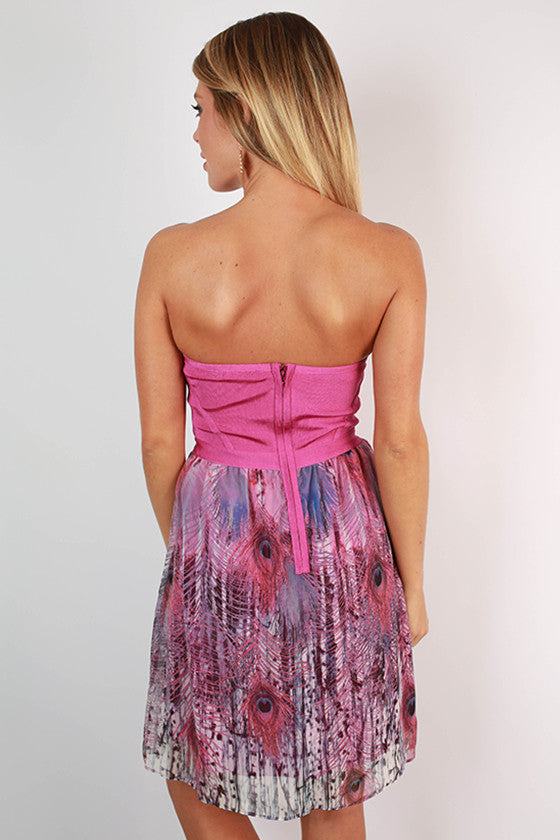 Modern Sweetheart Fit & Flare Dress in Orchid