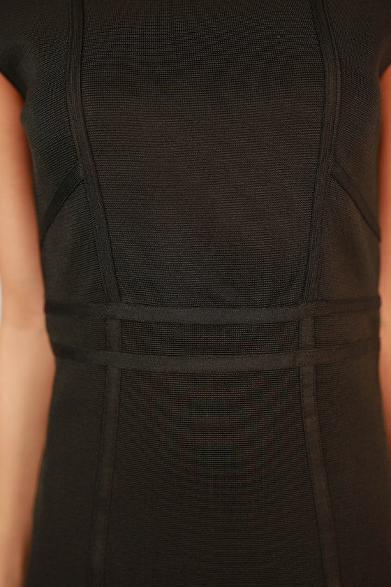 Madison Square Garden Bodycon Dress in Black