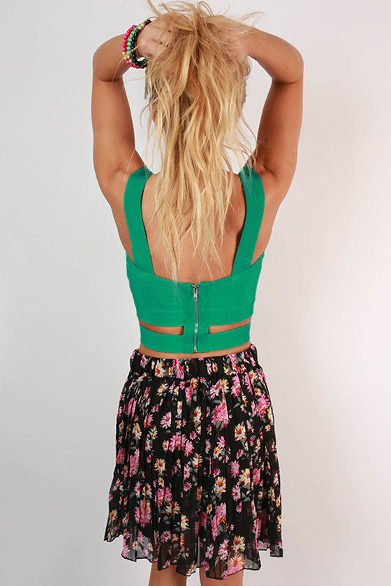 Big City Sweetheart Crop Top in Turquoise