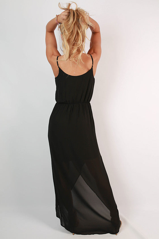 Take Time for Tea Maxi Dress in Black