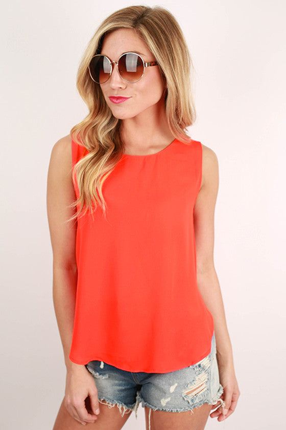 Cabo Dreaming Hi-Lo Tank in Orange