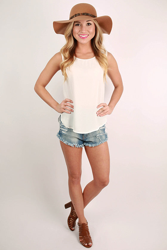 Cabo Dreaming Hi-Lo Tank in White
