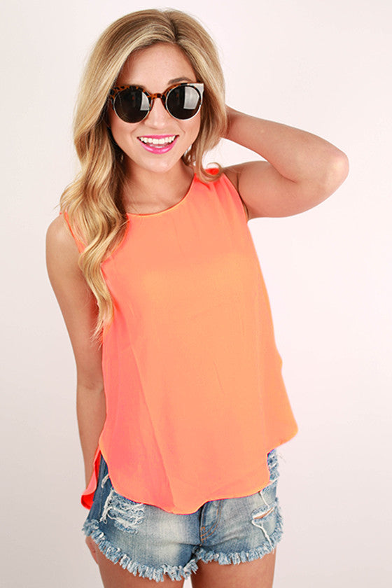 Cabo Dreaming Hi-Lo Tank in Peach