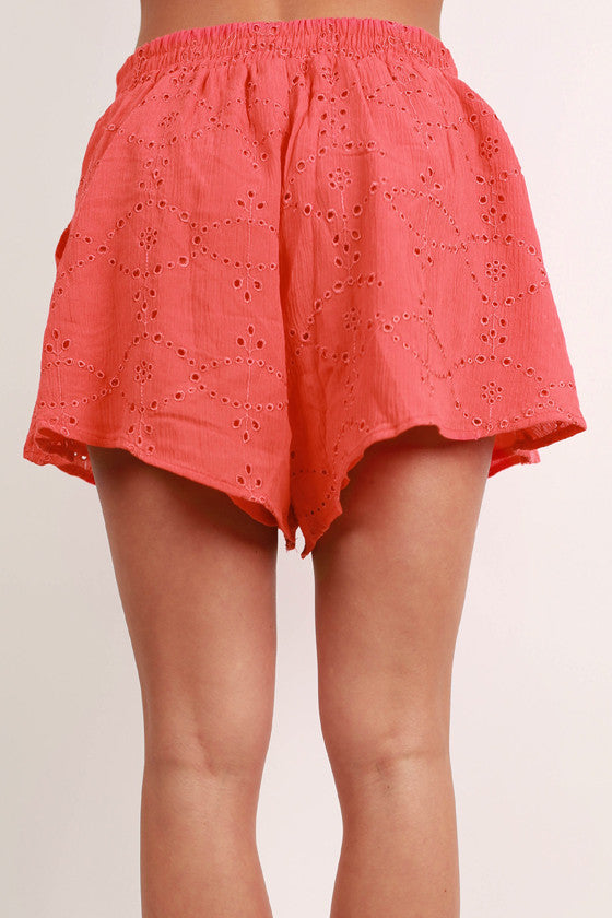 Glam Girl Next Door Shorts in Tomato