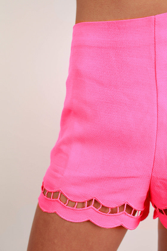 Bardot Beauty High Waist Shorts in Hot Pink
