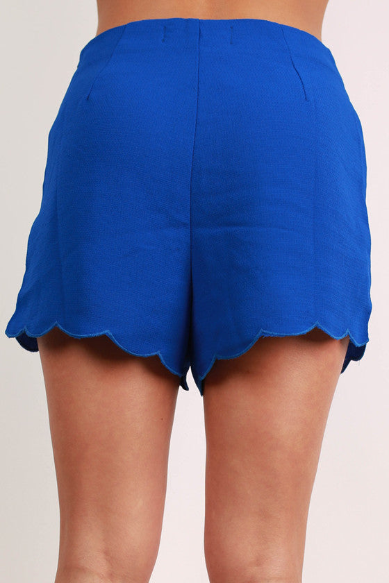 Bardot Beauty High Waist Shorts in Royal Blue