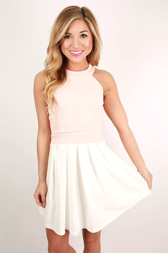 Bat Your Lashes Dress in Baby Pink