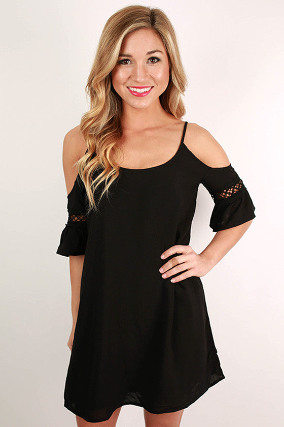 Dancing in the Moonlight Tunic in Black
