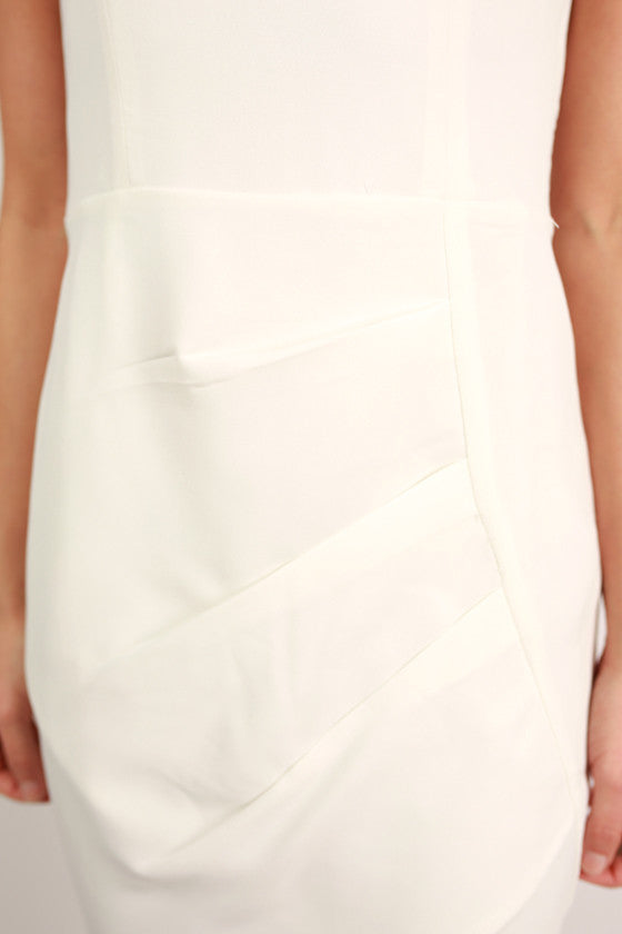 First Date Flutters Dress in White