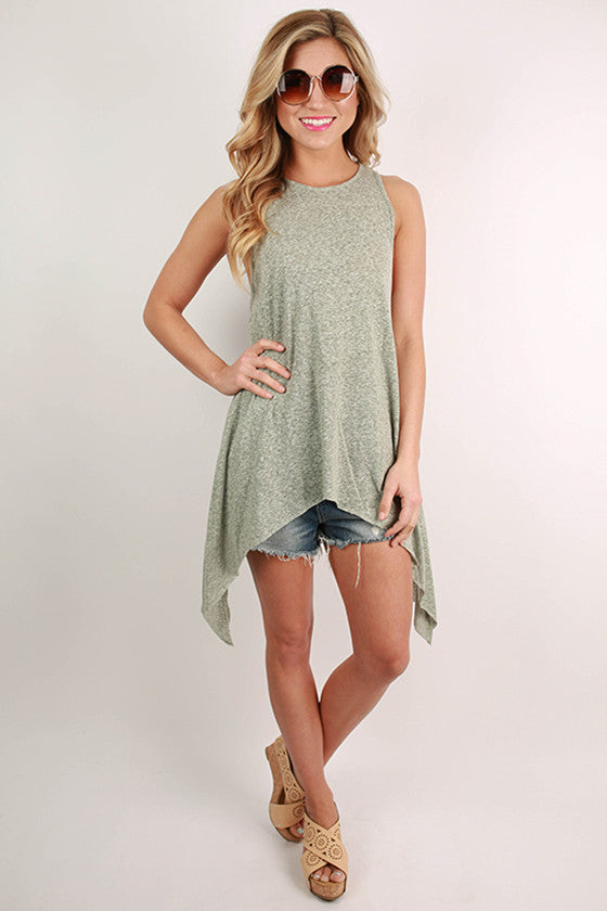 Sunkissed Shoulders Tank in Pear